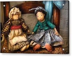 Children - Toys -  Dolls Americana  Acrylic Print by Mike Savad