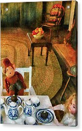 Children - Toys - The Tea Party Acrylic Print by Mike Savad