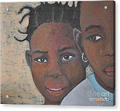 Children Burkina Faso Series Acrylic Print by Reb Frost