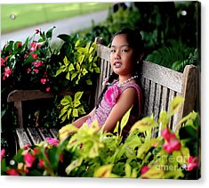 Acrylic Print featuring the photograph Children by Diana Mary Sharpton