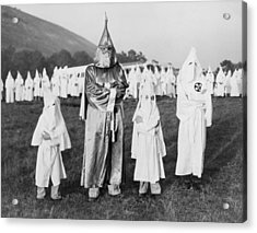 Children In Ku Klux Klan Costumes Pose Acrylic Print by Everett