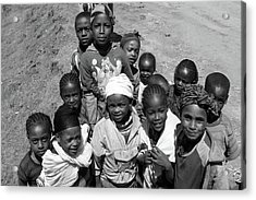Children Of The Guge Mountain's, Ethiopia Acrylic Print
