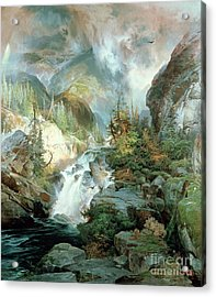 Children Of The Mountain Acrylic Print by Thomas Moran