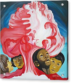 All God's Children.             Children Of The Nuclear Age Acrylic Print