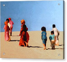 Children Of The Sinai Acrylic Print by Kurt Van Wagner