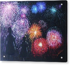 Children On The 4th Of July Acrylic Print by Diane Larcheveque