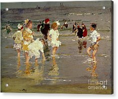 Children On The Beach Acrylic Print by Edward Henry Potthast
