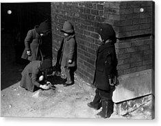 Children Play In Chicago, Original Acrylic Print