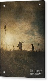 Children Playing Acrylic Print