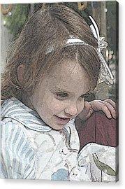 Children Series Acrylic Print by Ginger Geftakys