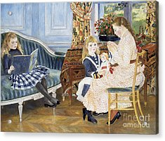 Children's Afternoon At Wargemont Acrylic Print by Pierre Auguste Renoir