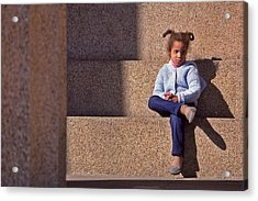 Child's Thought Acrylic Print by Randy Muir