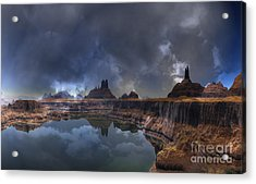 Chilean Copper Querry  Acrylic Print by Heinz G Mielke