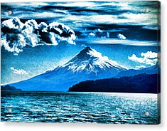 Chilean Volcano Acrylic Print by Dennis Cox