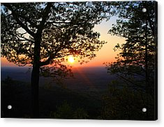 Acrylic Print featuring the photograph Chilhowee Sunset by Kathryn Meyer
