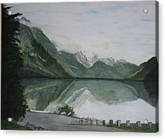 Acrylic Print featuring the painting Chilkoot Lake Alaska by Betty-Anne McDonald