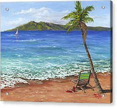 Acrylic Print featuring the painting Chillaxing Maui Style by Darice Machel McGuire