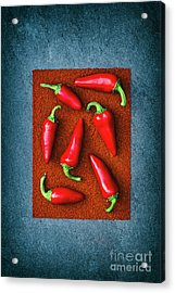 Chillies Acrylic Print by Tim Gainey