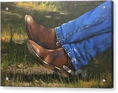 Chillin Boots  Acrylic Print by Rich Fisher