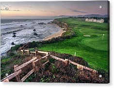 Acrylic Print featuring the photograph Chilling At Half Moon Bay by Peter Thoeny