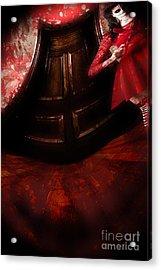 Chilling Female Killer Inside Spooky Horror House Acrylic Print