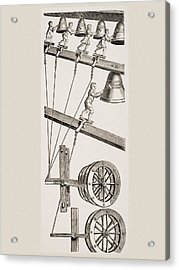 Chimes Of The Clock Of St. Lambert In Acrylic Print by Vintage Design Pics