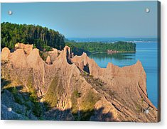 Chimney Bluffs 1750 Acrylic Print by Guy Whiteley