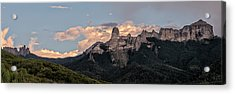Chimney Peak Panorama Acrylic Print by Loree Johnson