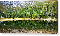 Chimney Pond Reflections 2 Acrylic Print by Glenn Gordon