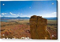 Chimney Rock  And Cerro Pedernal Acrylic Print