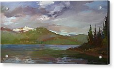 Chimney Rock  At Priest Lake  Plein Air Acrylic Print