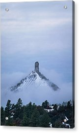Chimney Rock Rising Acrylic Print