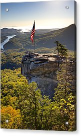Chimney Rock State Park North Carolina Acrylic Print by Dustin K Ryan