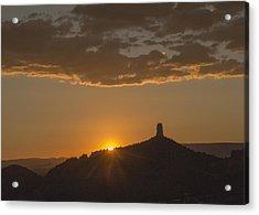 Chimney Rock Sunset Acrylic Print