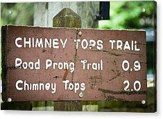 Chimney Tops Trail Acrylic Print
