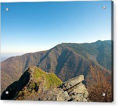 Chimney Tops Vista In Great Smoky Mountain National Park Tennessee Acrylic Print