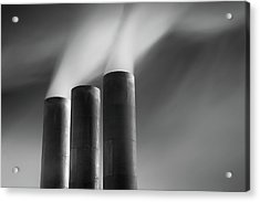 Chimneys Billowing Acrylic Print by Mark Voce Photography