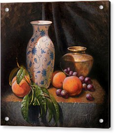 China Brass And Peaches Acrylic Print