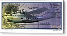 China Clipper Chasing The Sun Acrylic Print