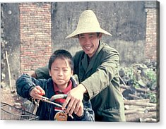 Acrylic Print featuring the photograph China Family by Douglas Pike