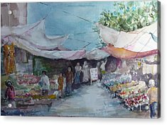 China Market Place Acrylic Print by Dorothy Herron