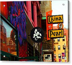 China Pearl Sign, Chinatown, Boston, Massachusetts Acrylic Print