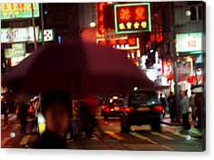 China Street Scene Hong Kong Acrylic Print by Brad Rickerby