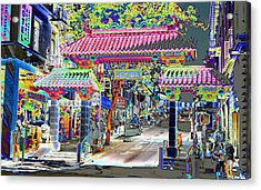 China Town  Entrance Acrylic Print