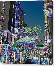 China Town / Shades Of Blue Acrylic Print