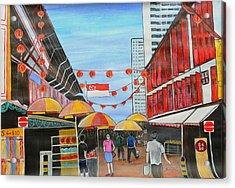 China Town Singaporesg50 Acrylic Print