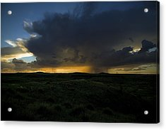 Chinati Storm Acrylic Print by Clyde Replogle