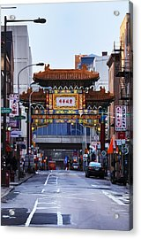Chinatown - Philadelphia Acrylic Print by Bill Cannon