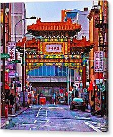 Chinatown Arch Philadelphia Acrylic Print by Bill Cannon