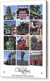 Chinatown Los Angeles Acrylic Print